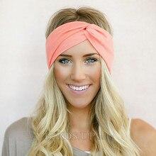 c31785b5869c Twist Turban Headband for Women Bows Elastic Sport Hairbands Head Band Yoga  Headbands Headwear Headwrap Girls