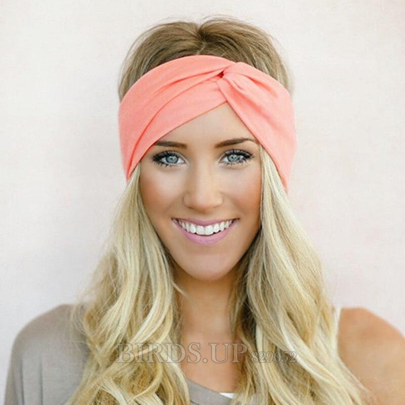 9f6cba2fd3a Twist Turban Stirnband für Frauen Bögen Elastische Sport Haarbänder  Stirnband Yoga Stirnbänder Headwear Headwrap Mädchen Haar Zubehör