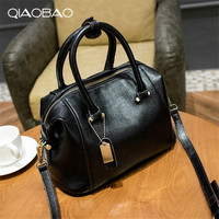 Free Shipping Fashion 2016 Candy Color Leather One Shoulder Cross Body Women S Handbags Messenger Shoulder