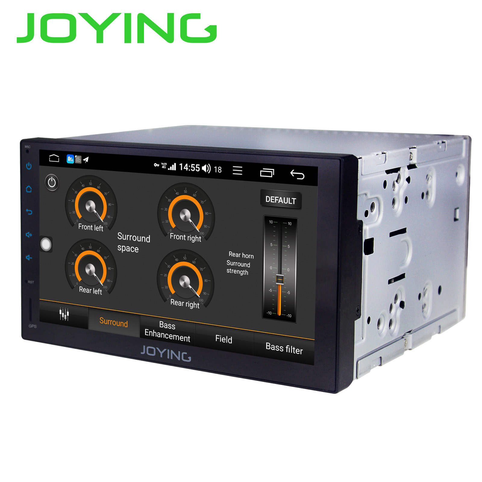 JOYING 2 din car radio player Octa Core 4GB+64GB Android 8 1 Support 4G DSP  GPS universal stereo head unit SWC multimedia player