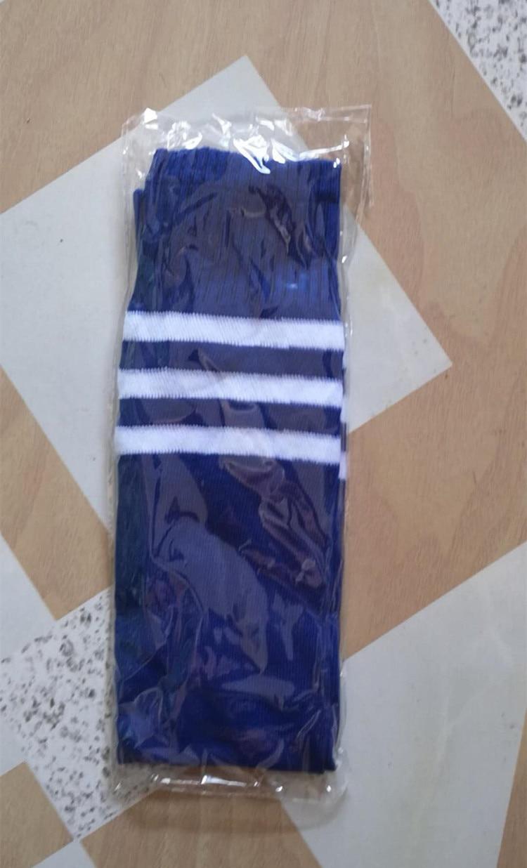 Fashion 1 Pair adult stockings women men Straight Three striped sports striped tube stockings football women in Stockings from Underwear Sleepwears
