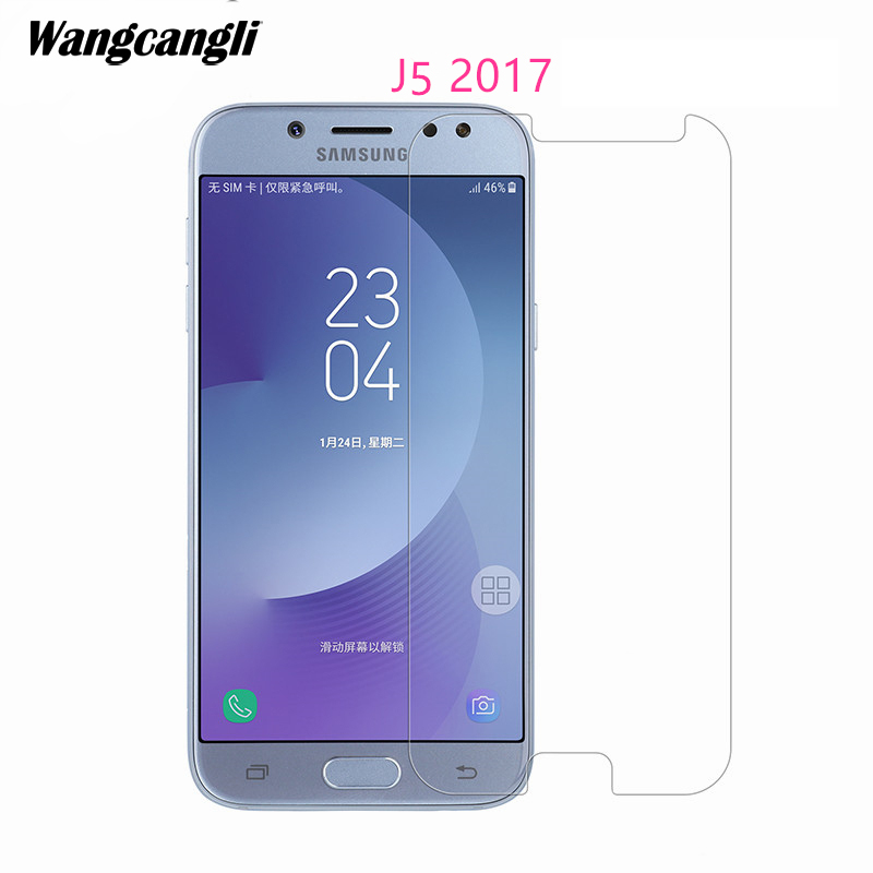 Wangcangli 1PCS Tempered Glass For Samsung Galaxy J5 2017 Screen Protector for 2016 Mobile phone tempered glass
