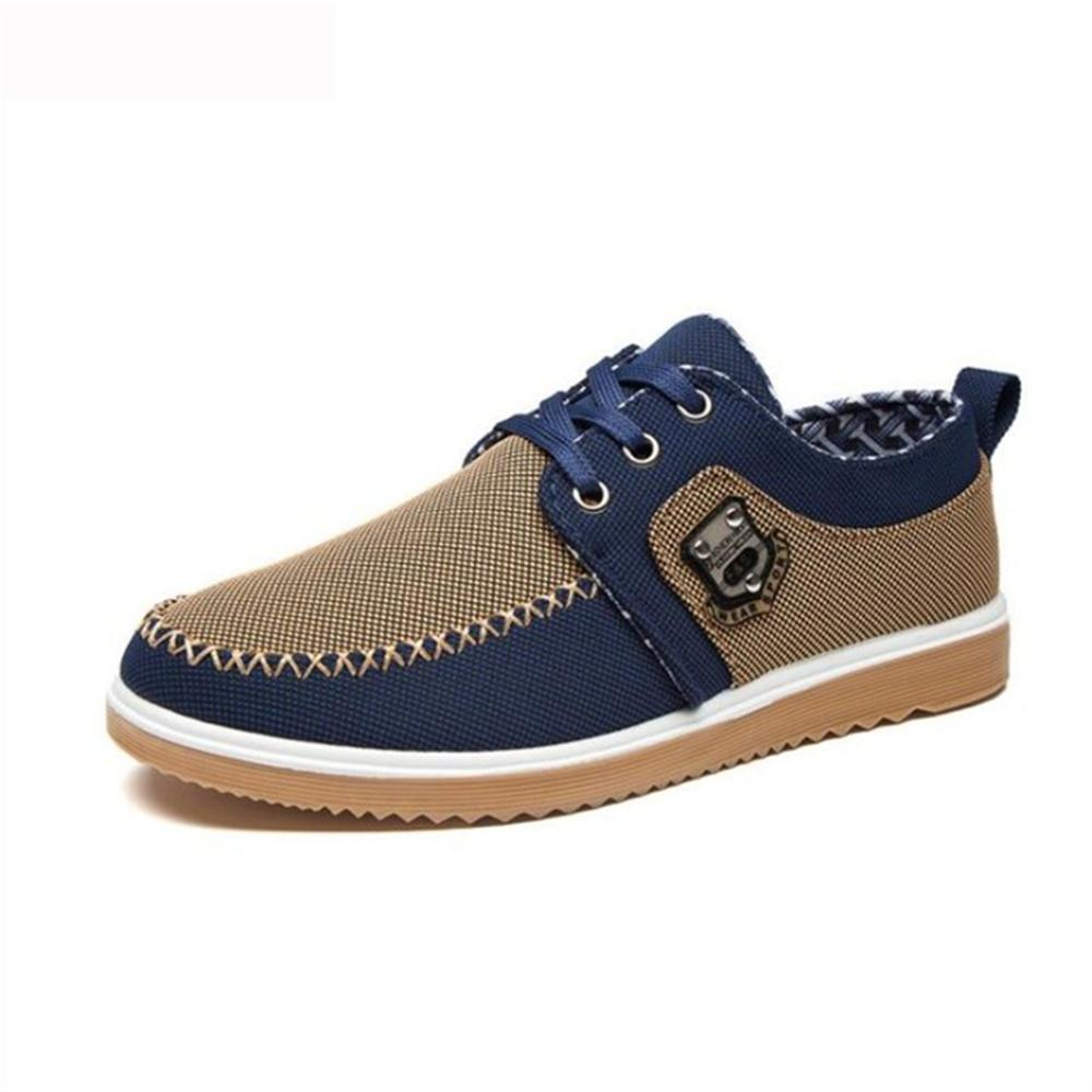 2018 Spring autumn The new fashion men's low - help trendy casual shoes Sell well wear breathable canvas old Beijing shoes