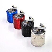 Zink-legierung Tabakmühle 4 Farben Handkurbel 56 MM Herb Spice Unkraut Brecher Metall Tabak Schleifmaschinen Für Mann Rauchen zubehör