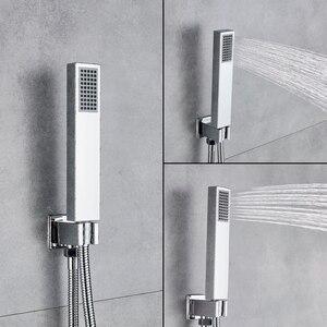 Image 3 - Uythner ensemble de robinets mitigeurs de douche à montage mural, système encastré effet cascade, pour salle de bains, baignoire chromé