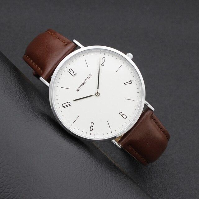 f0d153e6a080 De los hombres de la moda minimalista reloj de mujer árabe del cuarzo de  Japón de ...