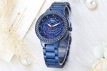Vogue Девушки Мода Синий Браслет Часы Класса Люкс Полный Кристаллы Женщины Одеваются Наручные Часы Импортные Кварцевые Аналоговые Relojes NW7162