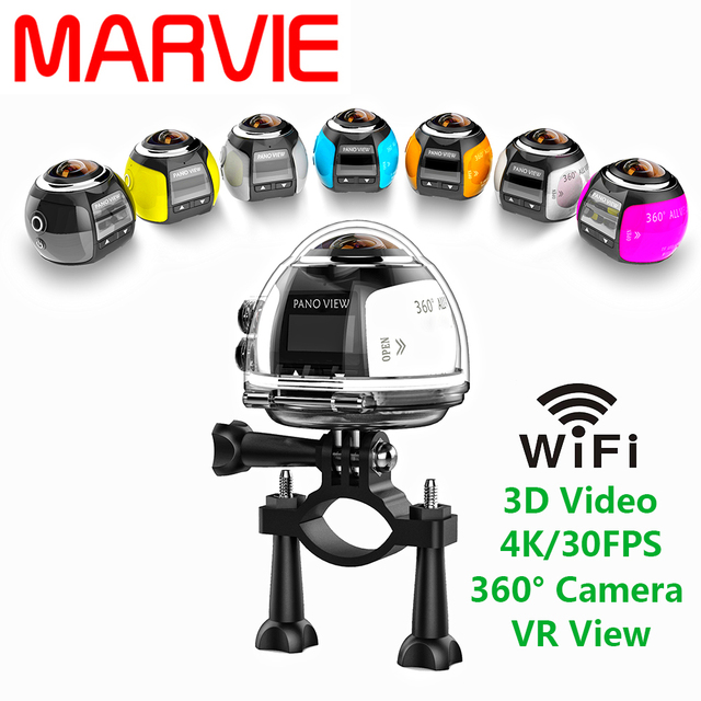 Marvie 2017 Newest Arrival 4K 360 VR Camera fashion Style Wifi mini  hidden Motion Detection Micro Camera Camcorder DV