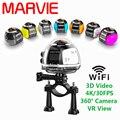 Marvie 2017 novos chegada 4 k 360 vr câmera moda estilo wifi mini câmera escondida motion detection micro câmera filmadora dv