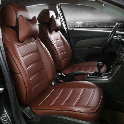 All-inclusive pu leather car seats covers for volkswagen lavida santana polo golf cc caddy tiguan phaeton four season seat cover