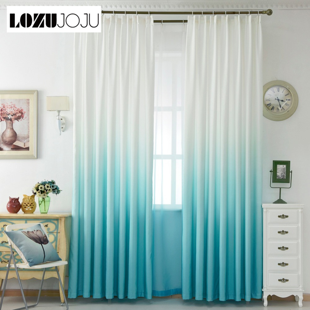 LOZUJOJU Living summer panel Solid curtain green curtains rainbow ...