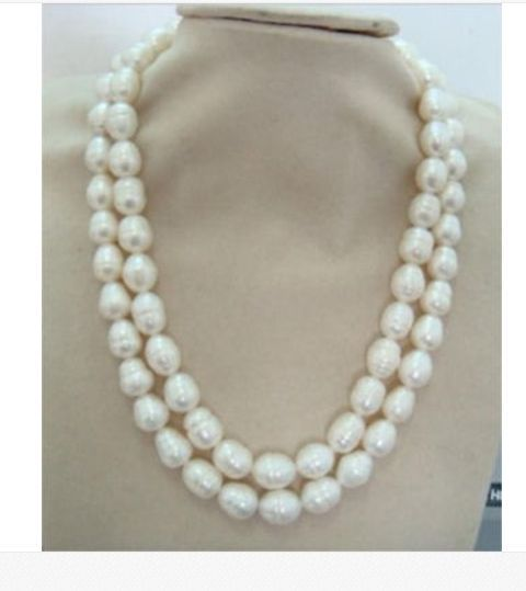 elegant12-13mm white baroque pearl necklace 38inch 925silverelegant12-13mm white baroque pearl necklace 38inch 925silver