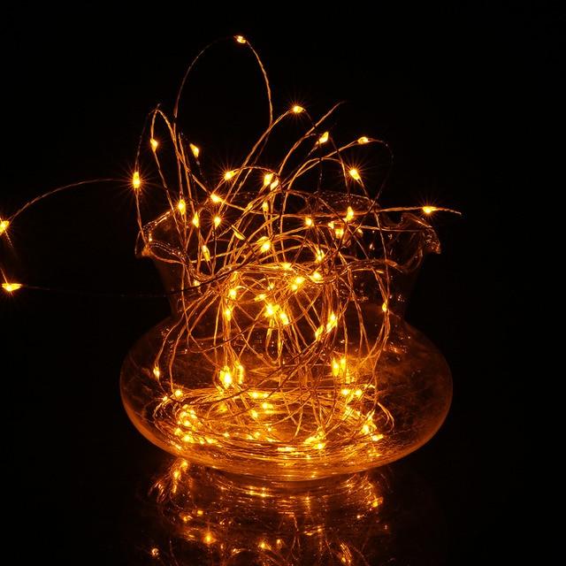 Multicolor 20 M 100LED de Alambre de Cobre de Luces de Cadena de Hadas de Luz LED DC12V Luz de la Secuencia Al Aire Libre Jardín Del Banquete de Boda Decoratio 2017