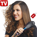Electric Smoothing brush Hair Straightener Comb Professional Heating Straightening irons With LCD Display brush alisadora Style