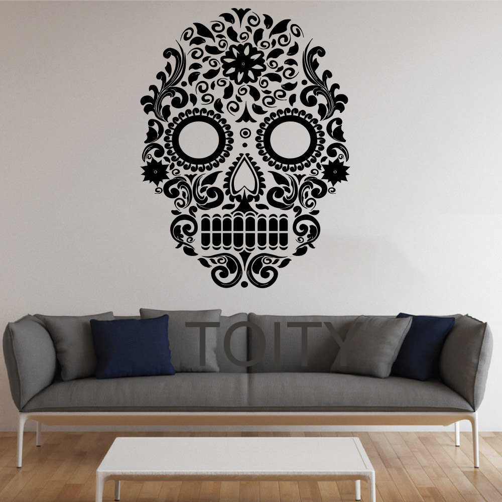 Sugar Skull Wall Stickers Mexican Art