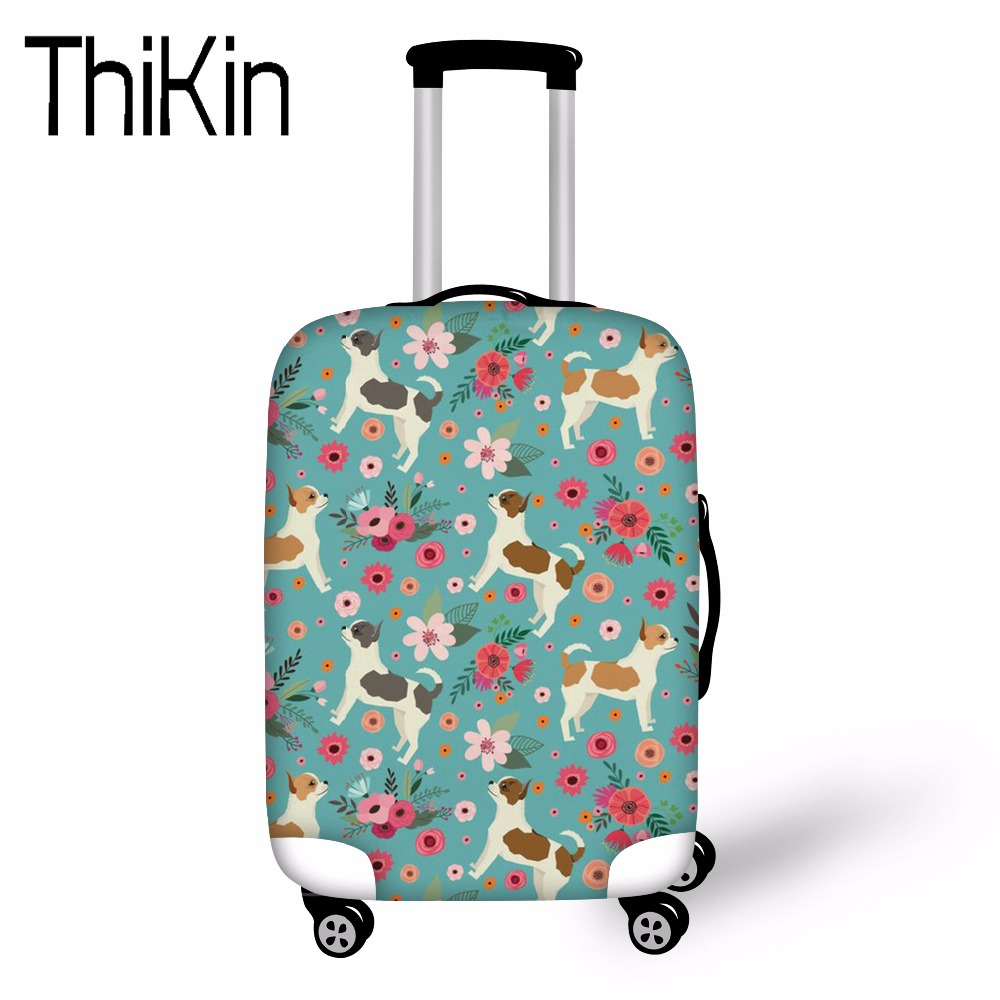 THIKIN Case Cover Chihuahua Elastic Travel Accessories for 18-30 inch Suitcase Luggage P ...