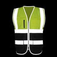 Reflektierende sicherheits weste leeveless pullover für bau transport lager arbeiter unternehmen logo siebdruck