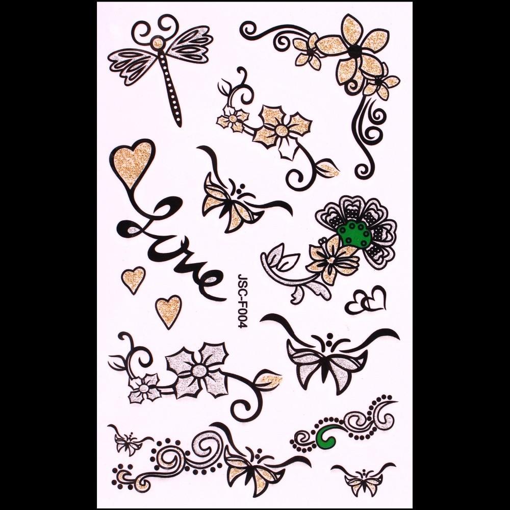 ツ)_/¯Impermeable metálico oro plata Cuerpo arte tatuaje temporal ...