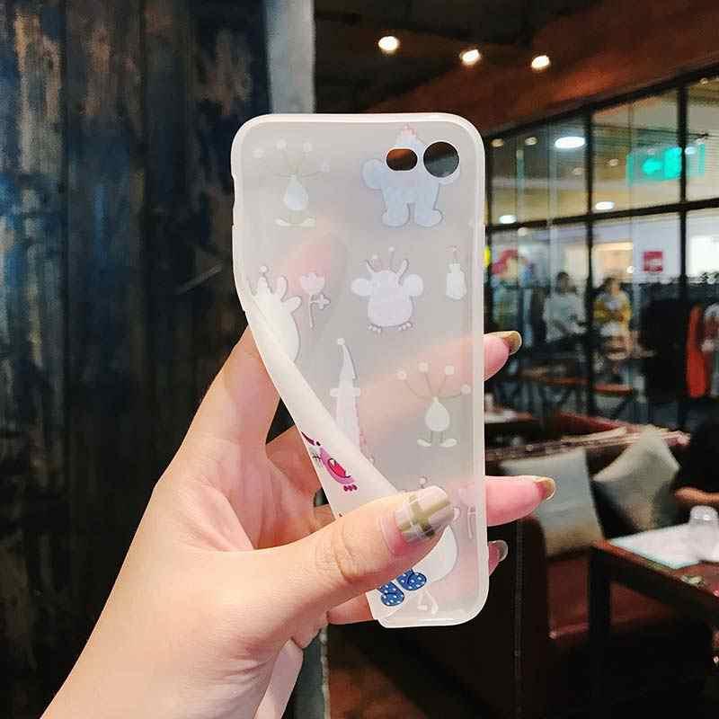 電話ケース iphone 5 5 s 、 se 6 6 s 7 8 プラスシリコーンソフト tpu カバー用 11 pro x xr xs 最大かわいいピンクファッション coque カバー
