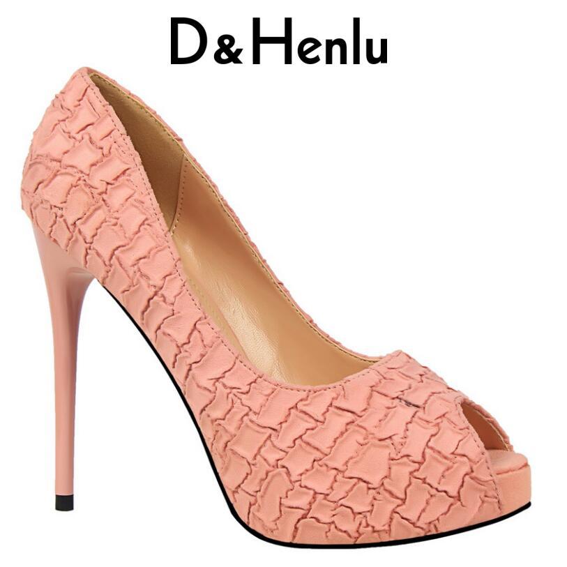 D&Henlu Shoes Women Heels Party Shoe Pumps Heel Ladies Shoes Pumps Wedding Shoe Women High Heels Peep Toe Platform Chaussures 2017 sexy women pumps high heels peep toe platform shoes woman high heel wedding shoes bride wedge ladies shoes silver
