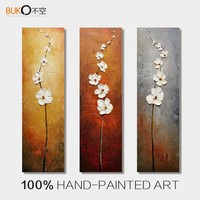 100 Hand Painted 3 Piece Canvas Art Wall Art Flower Painting Pop Art Abstract Oil Painting