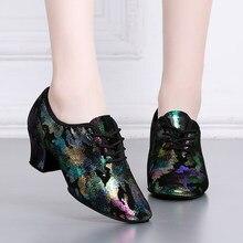 67c6412d05 Professor naturais Sapatos de Couro Genuíno Para As Mulheres Do Sexo  Feminino Sapatos de Dança Quadrado