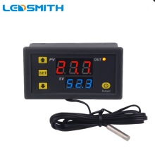 W3230 Mini Digital Temperature Controller 12V 24V 220V Thermostat Regulator Heating Cooling Control Thermoregulator With Sensor shenzhen pitt river k81 with a password cooling or heating universal thermostat