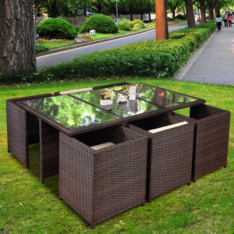 American loft vintage wood coffee tables wrought iron for Sofas de ratan para jardin