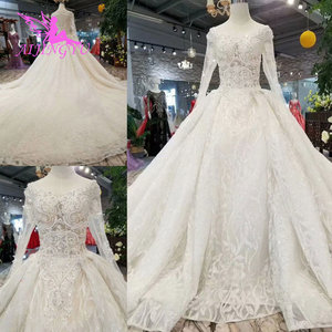 Image 2 - AIJINGYU Wedding Gowns With Sleeves Buy Gown Online Imported Romantic Love Train Dresses Satin New Wedding Dress