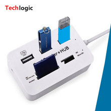 Multi USB Splitter Hub Combo 2.0 3 Ports Multy Card Reader High Speed USB Combo All In One for PC Computer Accessories
