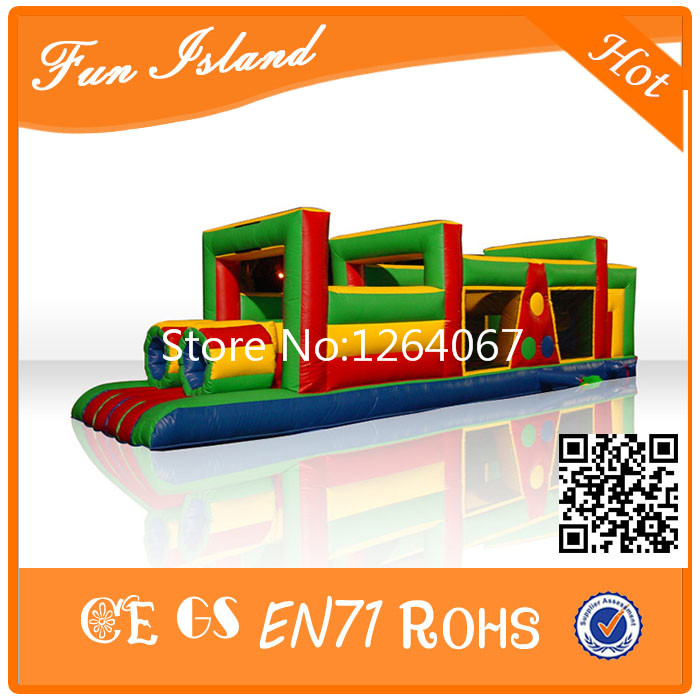 Outdoor Toys Games Giant Inflatable Obstacle Course For Kids, Inflatable Floating Obstacle For Commercial,Inflatable Trampoline commercial sea inflatable blue water slide with pool and arch for kids