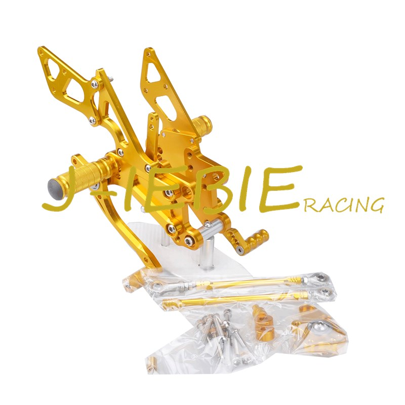 CNC Racing Rearset Adjustable Rear Sets Foot pegs Fit For Honda CBR600RR CBR600 RR F5 2007-2016 GOLD titanium cnc aluminum racing adjustable rearset foot pegs rear sets for yamaha mt 07 fz 07 mt07 fz07 2013 2014 2015 2016