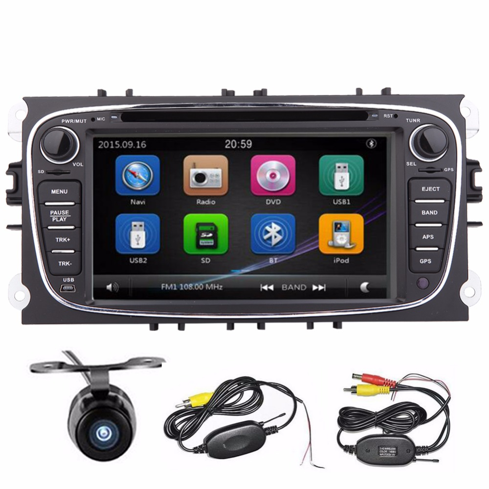 2Din 7Inch Car DVD GPS Navigation player for FORD FOCUS Ford MONDEO 2013 2014 2015 With GPS Navigation bluebooth car dvd player