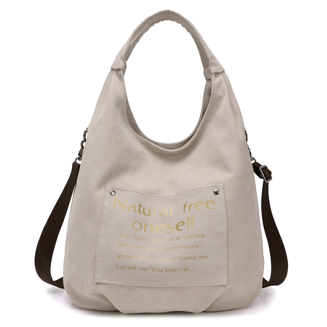 KVKY Women Letter Printing Wristlets Handle Bag Circular Tote Girls Handbags  Large Capacity Shoulder Crssbody Canvas f6f93b22e2ef9