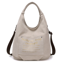 KVKY Women Letter Printing Wristlets Handle Bag Circular Tote Girls Handbags Large Capacity Shoulder Crssbody Canvas Hobos Bag