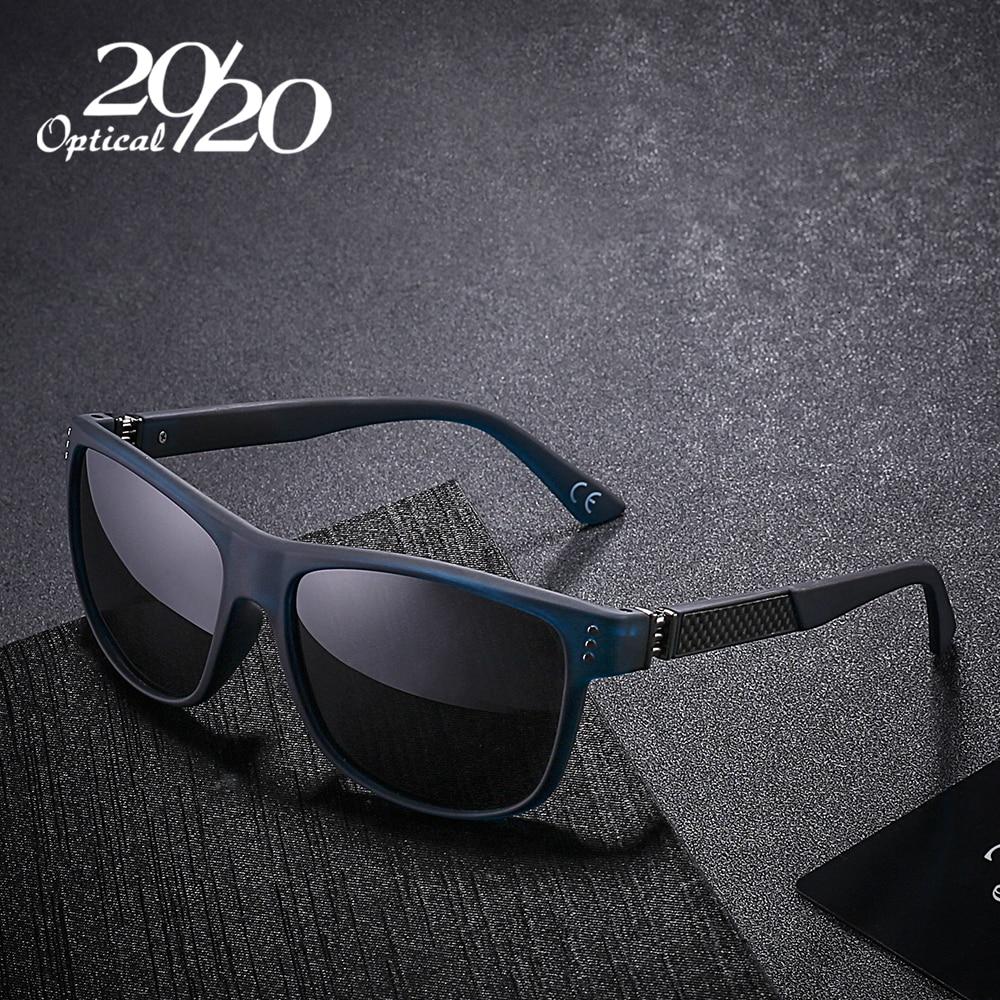 20/20 Nuevo Clásico Gafas de Sol Polarizadas Hombres Conducción de Fibra de Carbono Gafas de Sol Gafas de Sol para hombres Oculos 4 Colores PL293