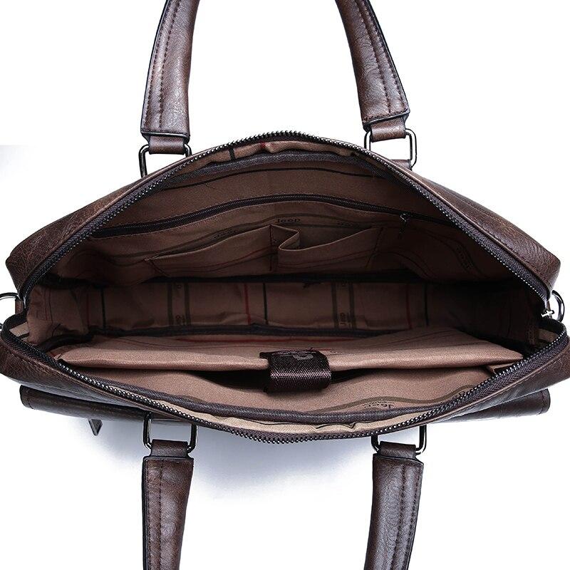 HTB1GhMCeROD3KVjSZFFq6An9pXaF New Men Briefcase Bags Business Leather Bag Shoulder Messenger Bags Work Handbag 14 Inch Laptop Bag Bolso Hombre Bolsa Masculina