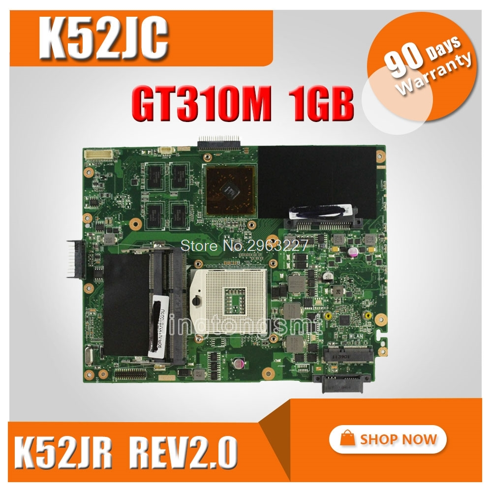 For ASUS K52JC Laptop Motherboard Mainboard k52jr k52j a52j K52jc A52J K52JT 1GB N11M-GE2-S-A1 DDR3 REV2.0 100% tested men women fashion fashion hannah martin men date stainless steel leather analog quartz sport wrist watch dropshipping hot sale2