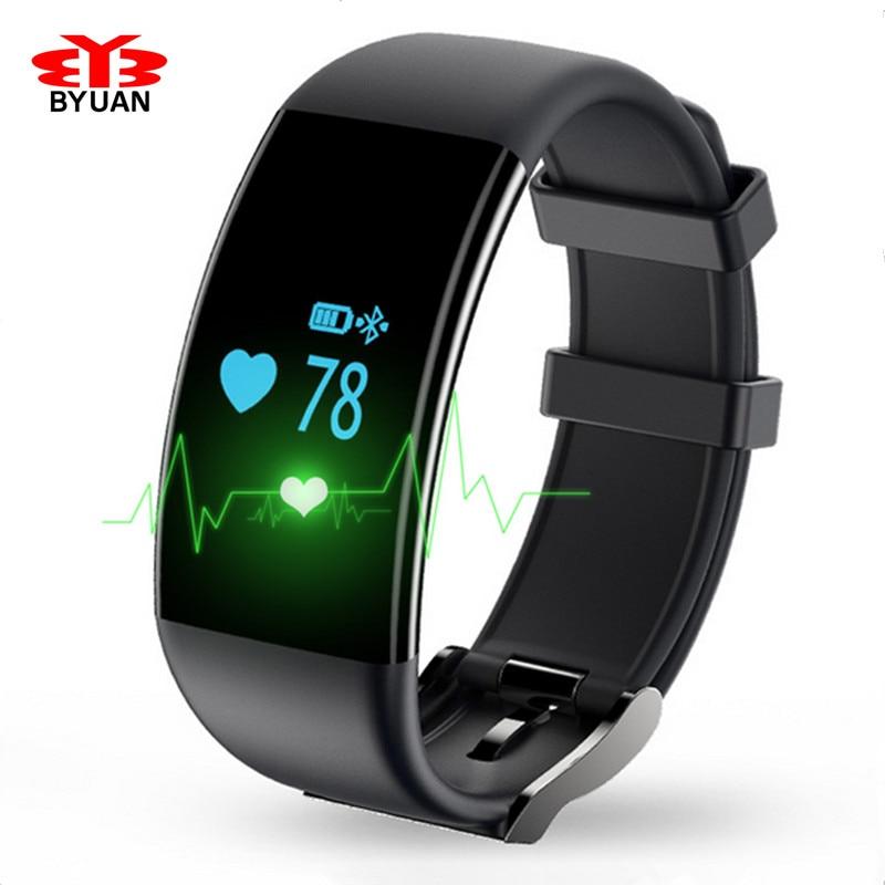 Waterproof Heart Rate Monitor font b Smart b font Band Swim Fitness Tracker Bracelet Bluetooth Wristband