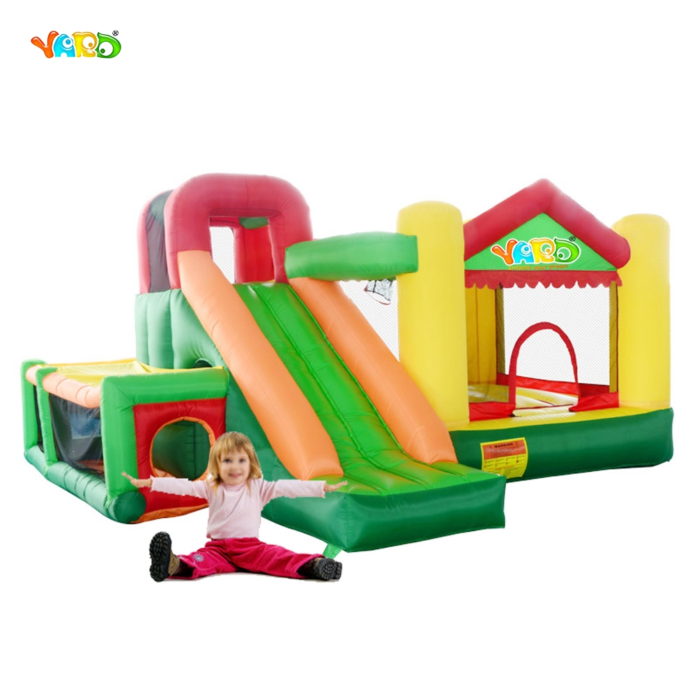 yard inflatable trampoline kids outdoor backyard playing toys bouncy