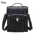 Genuine leathe High Quality Men business Leisure bag travel men backpack 2016 fashion High Grade designer Multi-function man bag