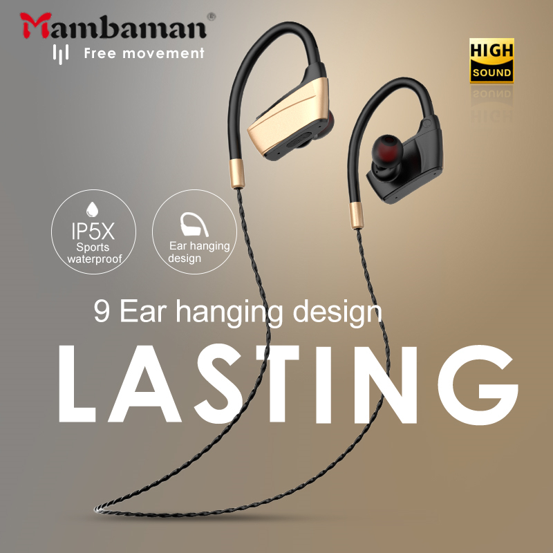 Mambaman X22 IPX5 Waterproof Bluetooth Earphones Noise Cancelling Earphone HiFi Stereo Wireless Sports Earbuds Headset With Mic magnetic attraction bluetooth earphone headset waterproof sports 4.2