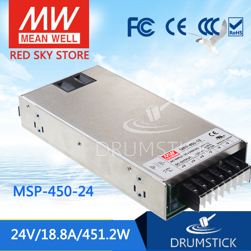 Advantages MEAN WELL MSP-450-24 24V 18.8A meanwell MSP-450 24V 451.2W Single Output Medical Type Power Supply mean well original msp 100 24 24v 4 5a meanwell msp 100 24v 108w single output medical type power supply