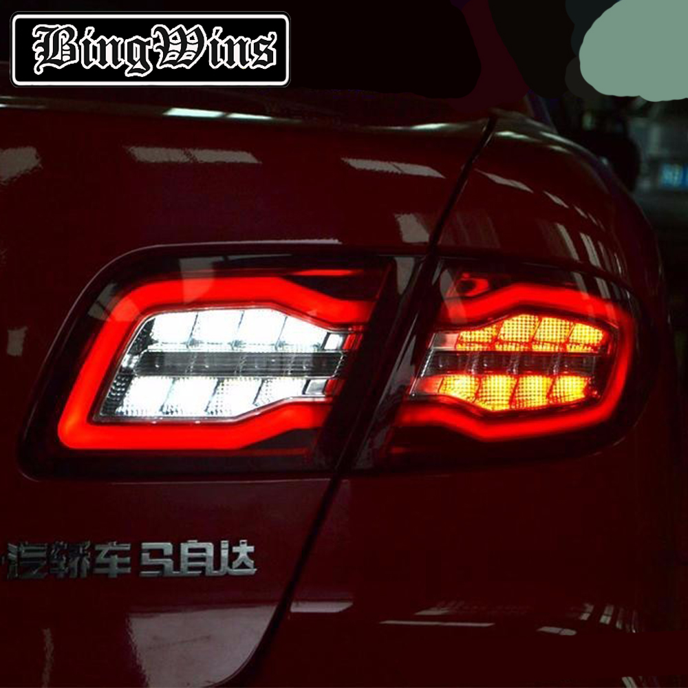 Bingwins Car Styling for Mazda 6 Taillights 2004 2013 Mazda6 Classic LED Tail Lamp Rear Lamp DRL+Brake+Park+Signal led light