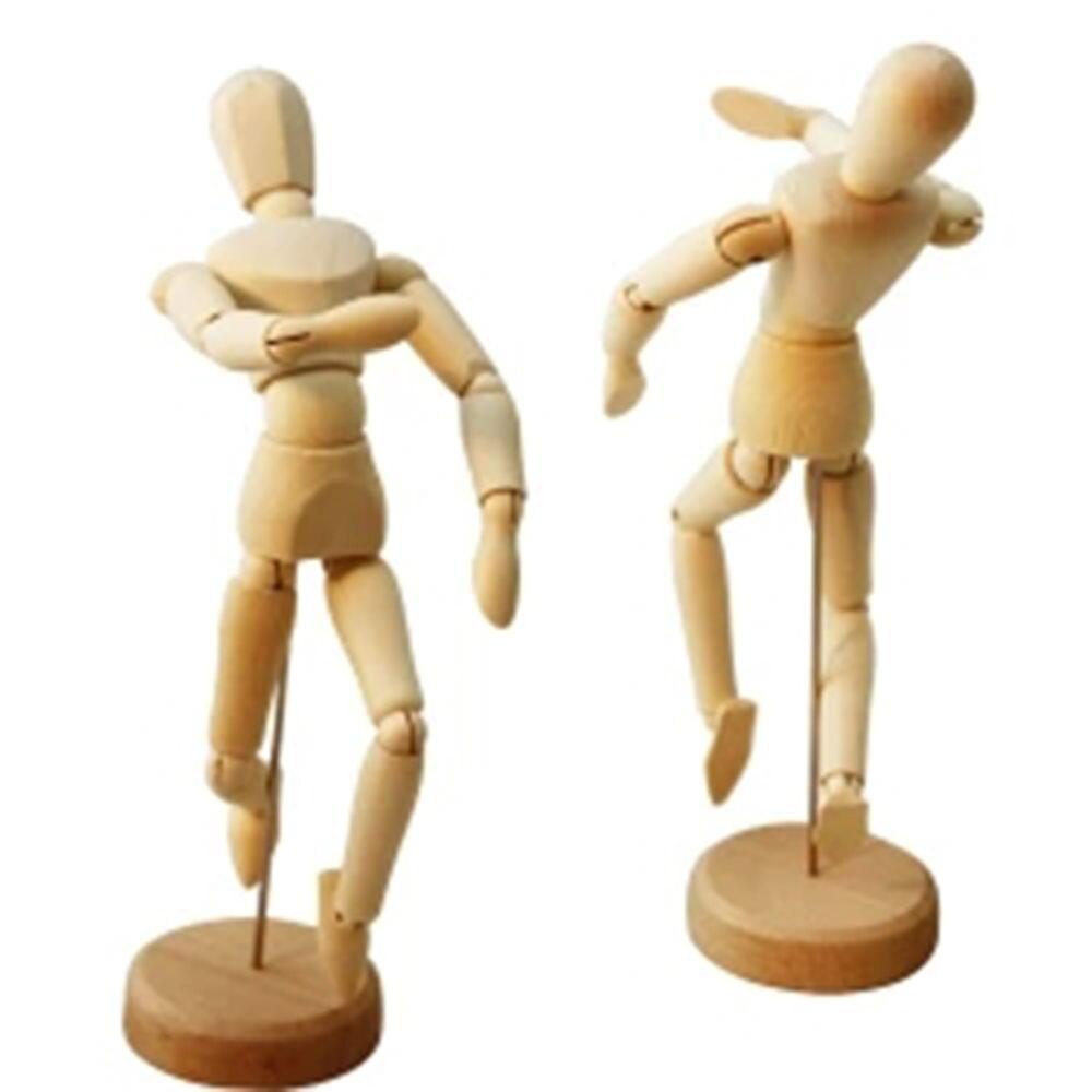 1 Pc 12 Cm Künstler Beweglichen Gliedmaßen Männlichen Holz Abbildung Modell Mannequin Kunst Skizze Zeichnung Aktive Joint Puppe Puppe Geschenk Für Kinder Elegant Im Stil
