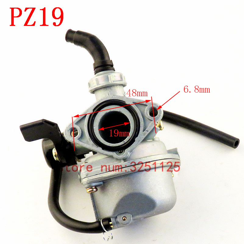 Image 3 - THE MOTOR Store PZ19 19mm Motorcycle Carburetor 50cc 70cc 90cc 110cc 125cc ATV Dirt Bike Go Kart Carb Choke Taotao carburettor-in Carburetor from Automobiles & Motorcycles