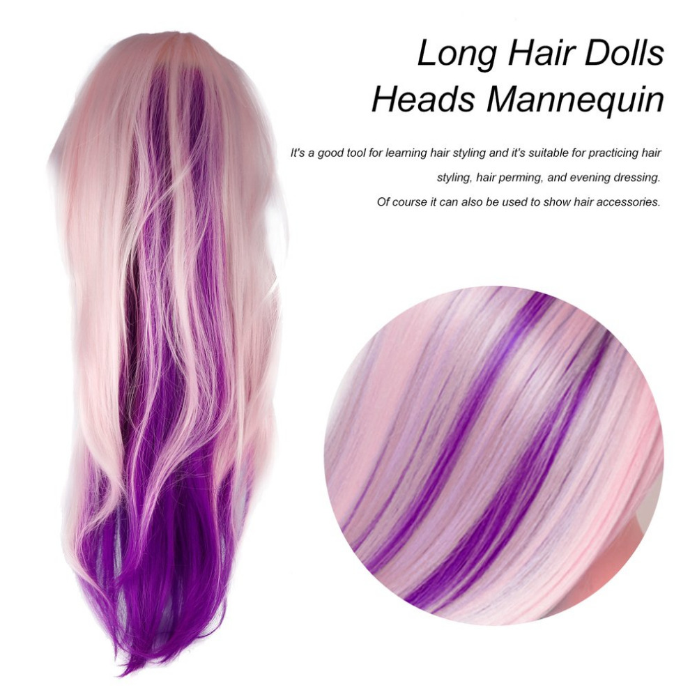 Aliexpresscom Buy Inch Pink To Purple Training Mannequin - Hairstyles for dolls with long hair