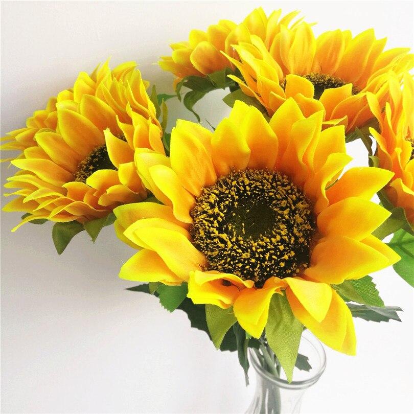 24 Pcs Buatan Bunga Matahari Bunga Matahari Kuning 60 Cm Panjang Untuk Rumah Pesta Pernikahan Dekorasi Bunga Artificial Sunflower Sun Flowerflower Flower Aliexpress
