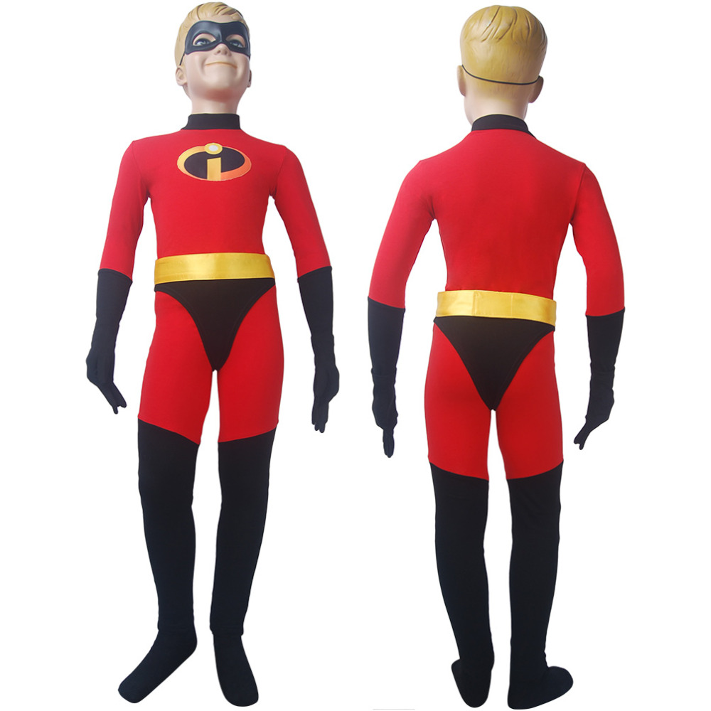 Kids girls Incredibles 2 jumpsuit cosplay superhero Halloween costume X'mas birthday Valentine's gift comic-con anime film toys