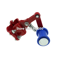 Motorcycle Chain Tensioner Belt Tensioner Motocross ATV Dirt Bike Pit Bike Chainsaw Red Fancy Chain Tensioner